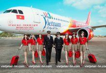 Tiếp viên của Vietjet Air và hành lý mang theo