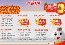 7 ngày vàng khuyến mãi hàng ngàn vé 0 đồng từ Vietjet Air