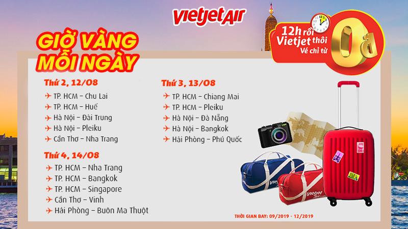 Đừng bỏ lỡ 3 ngày vàng khuyến mãi từ Vietjet Air
