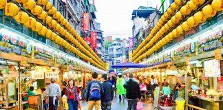 Một góc phố ở Đài Loan