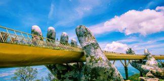Cầu Vàng điểm thu hút du khách tại Đà Nẵng