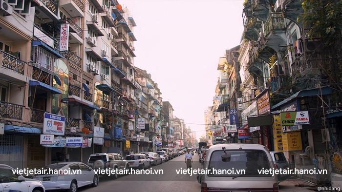 Đường phố ở thủ đo Yangon
