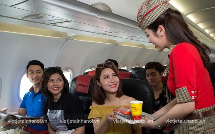 Hành khách có thể đặt trước món ăn trên máy bay Vietjet Air