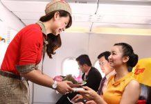 Thông tin về dịch vụ suất ăn trên máy bay Vietjet Air