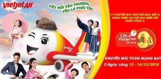 Khuyến mãi 3.000.000 Vé máy bay 0 đồng từ Vietjet Air