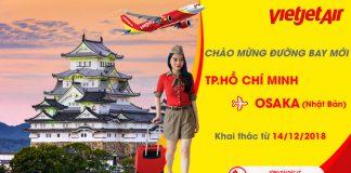 Đường bay mới từ Hồ Chí Minh đi Osaka của Vietjet