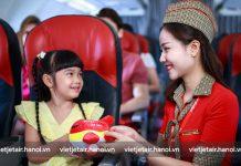 Quy định trẻ em đi máy bay của Vietjet Air