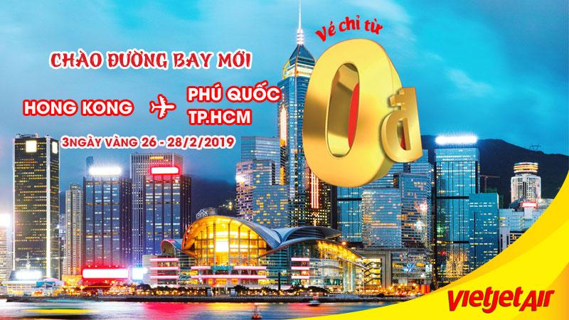 10.000 vé 0 đồng cùng Vietjet Air khám phá Hong Kong