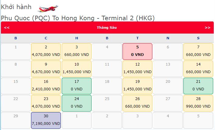 Vé máy bay khuyến mãi đi Phú Quốc đi Hong Kong