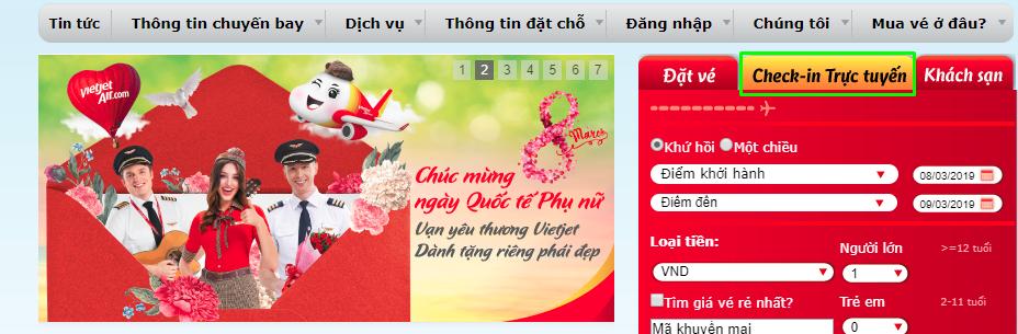 Hướng dẫn check in trực tuyến cùng Vietjet