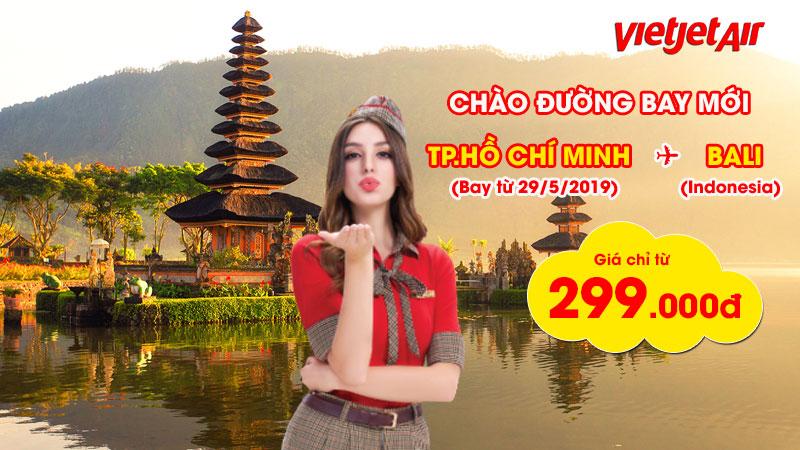 Vietjet Air khai thác đường bay thẳng từ Hồ Chí Minh đi Bali