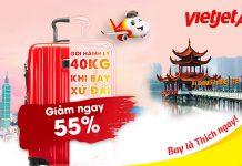 Vietjet air khuyến mãi 55% khi đặt trước hành lý đến Đài Loan
