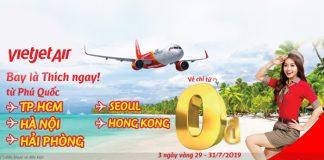 Vi vu cùng Vietjet với chương trình khuyến mãi vé máy bay giá rẻ từ 0 đồng