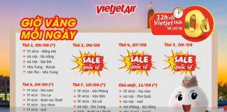 Đường bay 0 đồng trong chương trình khuyến mãi Vietjet Air