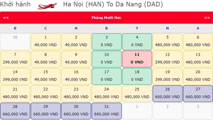 Vé máy bay Hà Nội đi Đà Nẵng