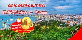 Khuyến mãi vé 0 đồng mừng đường bay Hồ Chí Minh – Pattaya Vietjet Air