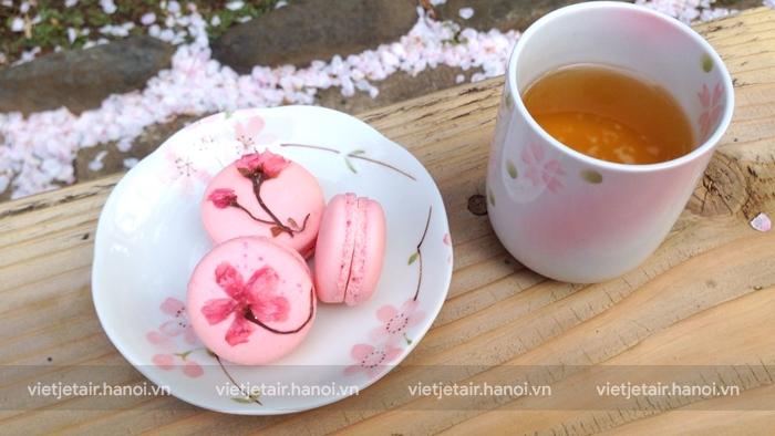 Sakura macaron sự kết hợp đặc biệt từ hoa anh đào và ẩm thực phương tây