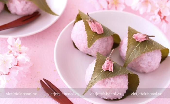Bánh Mochi món ăn đặc biệt từ hoa anh đào