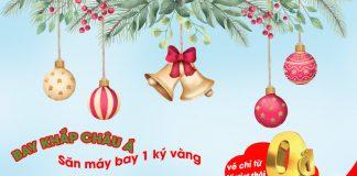 Khuyến mãi 5 triệu vé 0 đồng cùng Vietjet Air vui Giáng Sinh