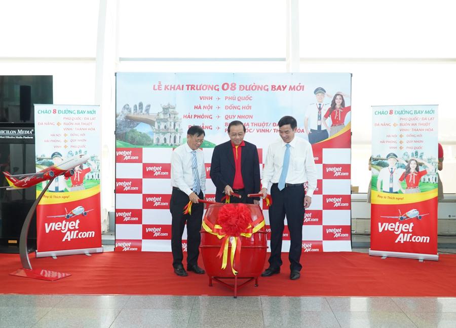 Vietjet Air khai trương 8 đường bay nội địa mới