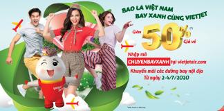 Khuyến mãi bay xanh cùng Vietjet Air giảm 50% giá vé