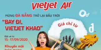 """Khuyến mãi vé máy bay 0 đồng Vietjet """"Khao"""" Đà Nẵng trở lại bầu trời"""