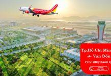 Vietjet khai thác trở lại đường bay Vân Đồn tặng 20 kg hành lý