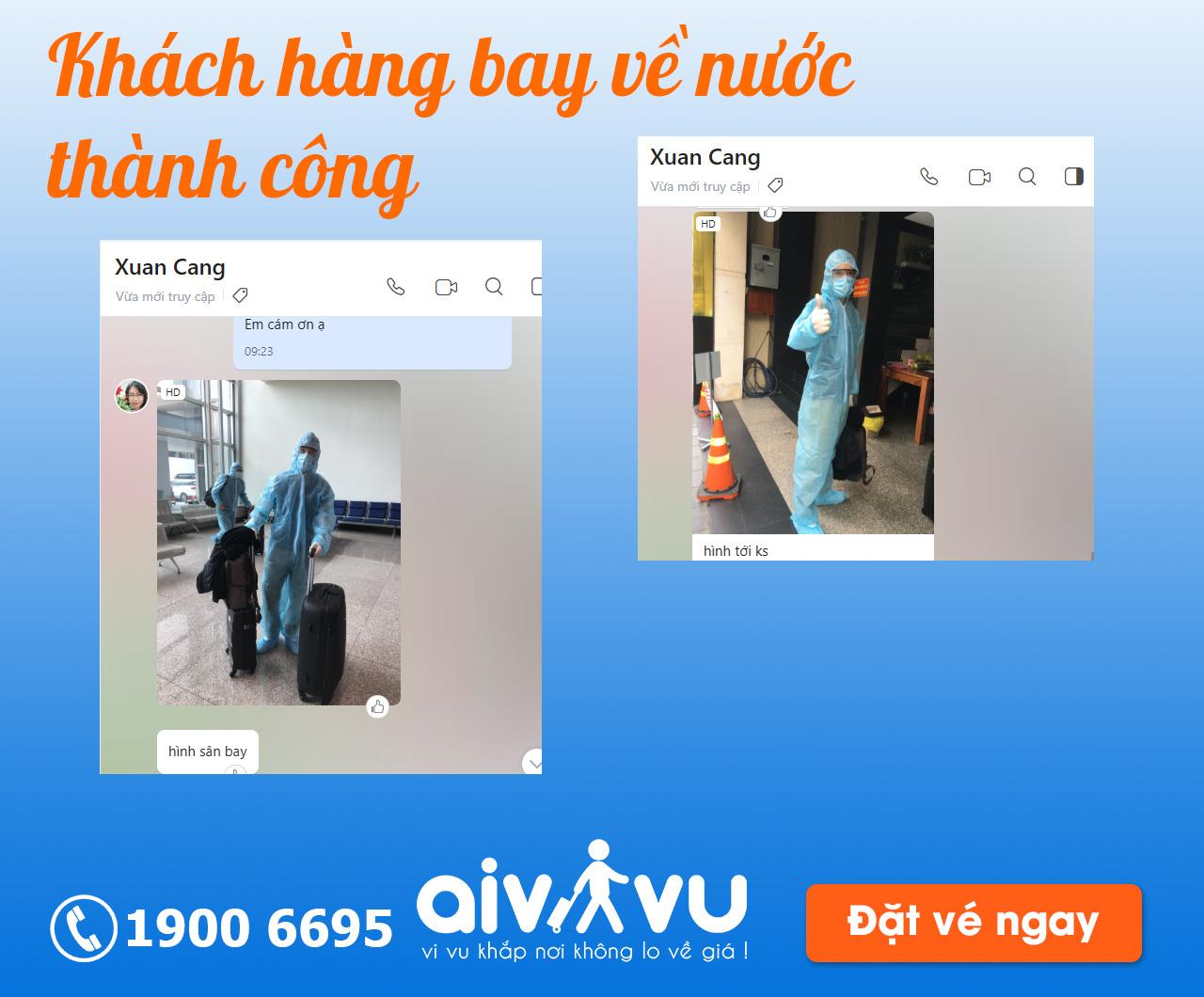 Khách hàng đặt thành công vé máy bay từ Anh về Việt Nam