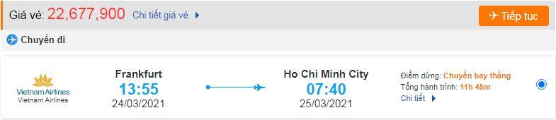 Vé máy bay từ Đức về Việt Nam - HCM