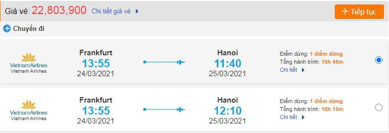 Vé máy bay từ Đức về Việt Nam - Hà Nội