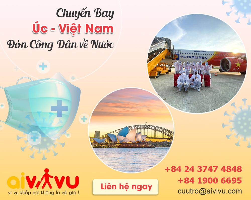 Vé máy bay từ Úc về Việt Nam